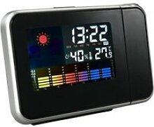 Decdeal Horloge silencieux - LED Écran