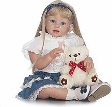 Decdeal Poupée en Silicone Reborn Toddler Poupée