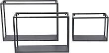 Decker - 3 étagères murales en métal