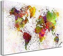 DECLINA Tableau Carte du Monde en Graff -