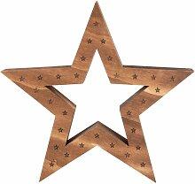 Déco de Noël étoile lumineuse 30LED H50