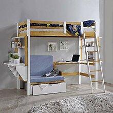 Deco In Paris Lit Mezzanine 90x190 cm avec Bureau