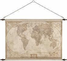 Déco murale carte du monde 117x129