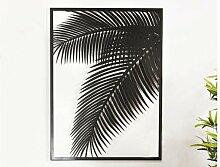 Déco murale palmier métal noir - Rog