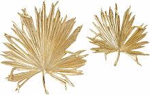 Déco murales feuilles de palmier dorées (x2)