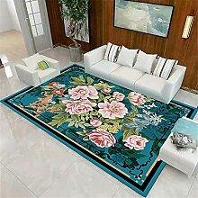 Deco Table Basse Turquoise Tapis Rond Salon Motif