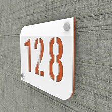 Decoho - Plaque numéro de rue / maison blanc