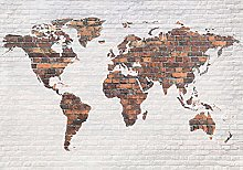 decomonkey | Papier peint intissé carte du monde