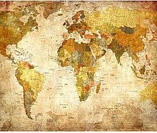 decomonkey   Papier peint intissé Carte du Monde