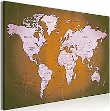 decomonkey   Tableau Acoustique Carte du Monde