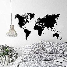 Décor à la maison carte du monde vinyle Stickers