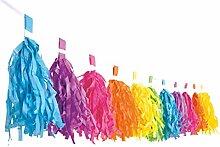 Decor Service Guirlande Papier Multicolore 3 m