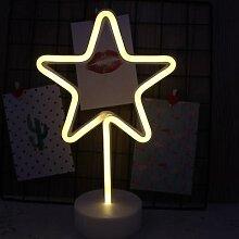 Décoratif LED néon signe étoile lune lampe USB