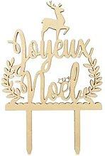 Décoration bois gâteaux Joyeux Noël Scrapcooking