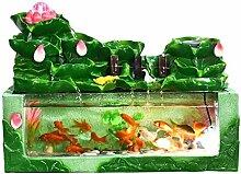 Décoration d'aquarium Bureau fontaine et Fish