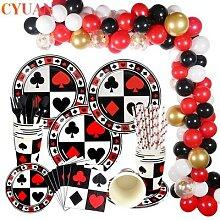 Décoration de fête à thème de Casino,