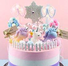 Décoration de gâteau de licorne pour tableau de