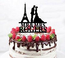 Décoration de gâteau de mariage personnalisée