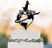 Décoration de gâteau de mariage sur le thème de