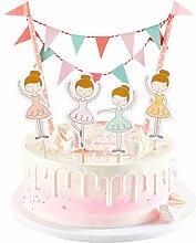 Décoration de gâteau dessin animé fille pour