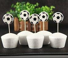 Décoration de gâteau thème Football 24 pièces,