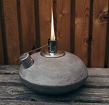 Décoration de jardin en béton - Lampe à huile