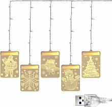 Decoration De Noel 3D Twinkle Hanging Lumieres