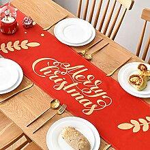 Décoration de Noël Chemin de Table en Coton et