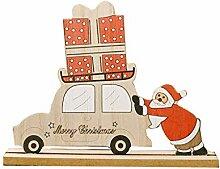 Décoration de Noël MingSheng, Noël en bois,