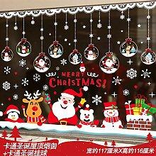 Décoration de Noël pour porte en verre avec