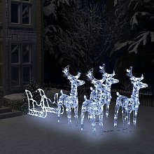 Décoration de Noël Rennes et tra?neau 400 LED