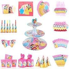 Décoration de table jetable princesse Disney pour