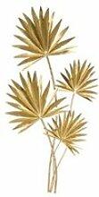 Décoration feuille - métal - doré