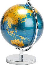 Décoration globe terrestre bleu H28cm