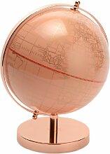 Décoration globe terrestre rose H28cm