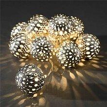 Décoration guirlande lumineuse LED 4m 20LED blanc