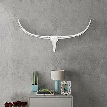 Décoration murale en forme de tête de taureau en