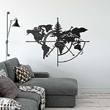 Décoration murale en métal noir sur le thème de