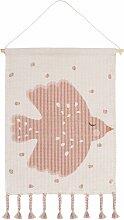Décoration murale Sweet Birdy coton/support bois