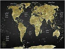 Décorer Cadeau Carte du Monde Affiche Toile