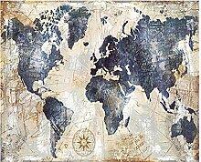 Décorer Cadeau Vintage Carte du Monde Affiche