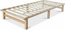 Décoshop26 - Cadre de lit palette en bois massif