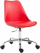 Décoshop26 - Chaise de bureau tabouret à