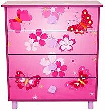Décoshop26 Commode 4 tiroirs Chambre Enfant Motif