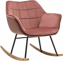 Décoshop26 - Fauteuil à bascule chaise lounge