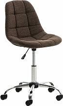 Décoshop26 - Tabouret chaise de bureau pivotante