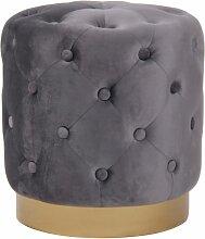 Décoshop26 - Tabouret pouf repose-pieds design