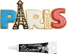 Découpoir à biscuits en inox Paris + Stylo de