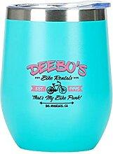 Deebo's Bike Rental Drôle Verre à vin