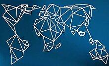 Dekadron Art Mural Carte du Monde en métal, Carte